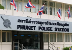Phuket Police Station in Thailand